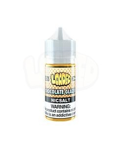 Loaded Chocolate Glazed Nic Salt White Background