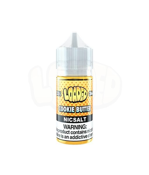 Loaded Cookie Butter Nic Salt White Background