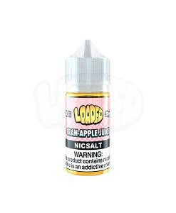 Loaded Cran Apple Nic Salt White Background