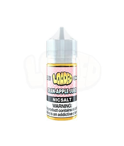 Loaded Cran Apple Nic Salt White Background