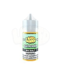 Loaded Glazed Donut Nic Salt White Background