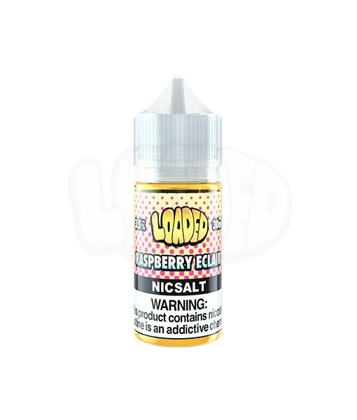 Loaded Raspberry Eclair Nic Salt White Background